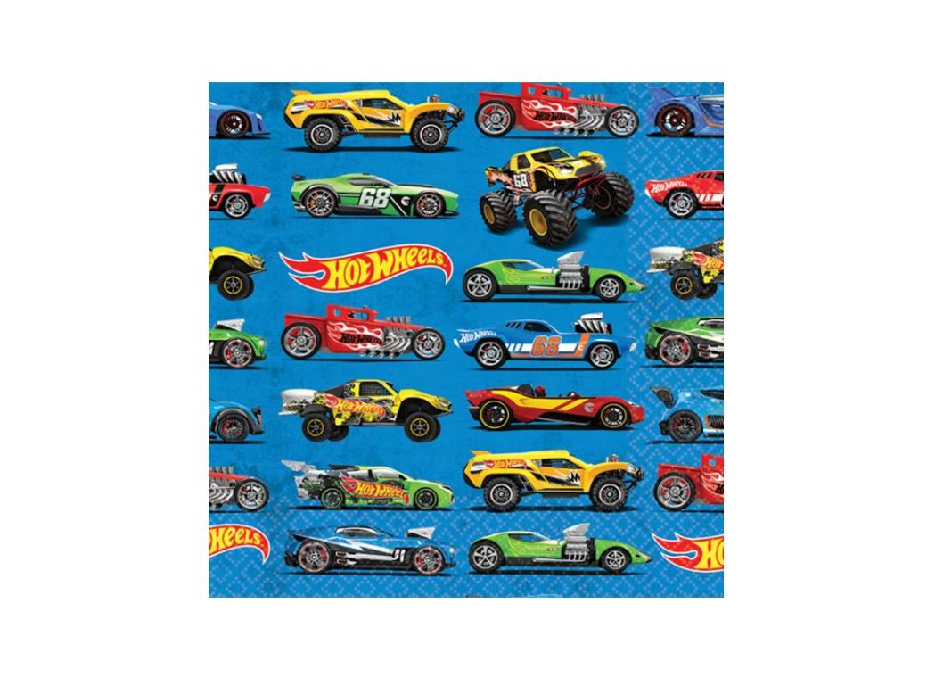 Hot Wheels Beverage Napkins - 16pk