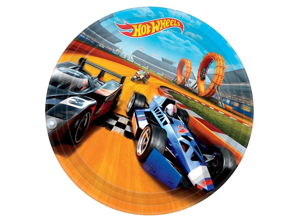 Hot Wheels Dinner Plates - 8pk