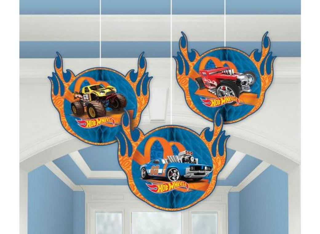 Hot Wheels Honeycomb Hanging Decorations