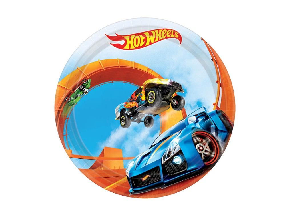 Hot Wheels Lunch Plates - 8pk