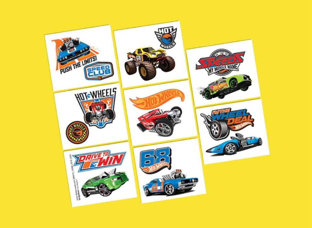 Hot Wheels Temporary Tattoos