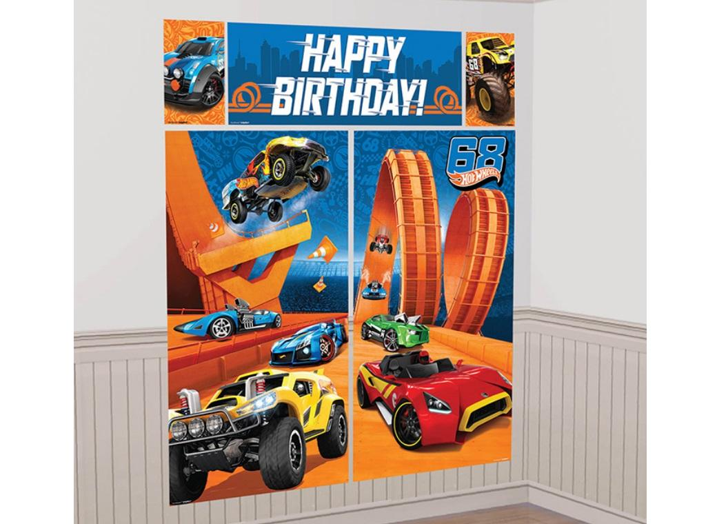 Hot Wheels Wall Decorating Kit