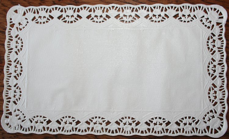 Rectangluar White Doily - 10 Pk