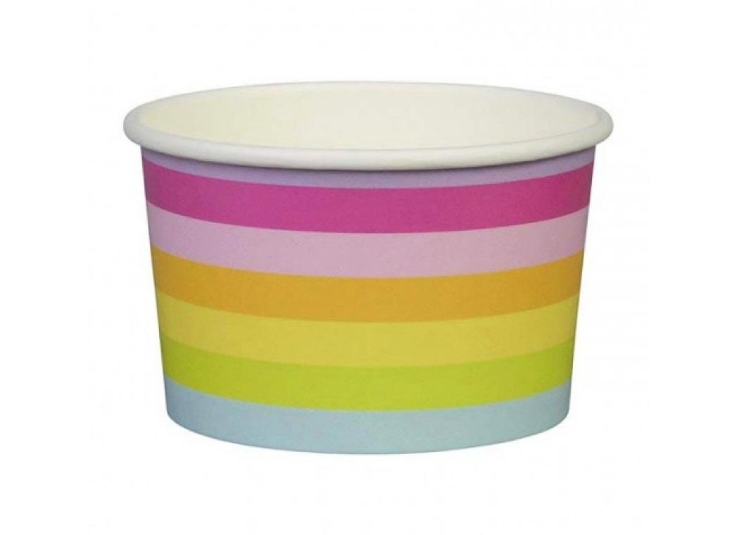 Sambellina Ice Cream Cups - Rainbow Stripes