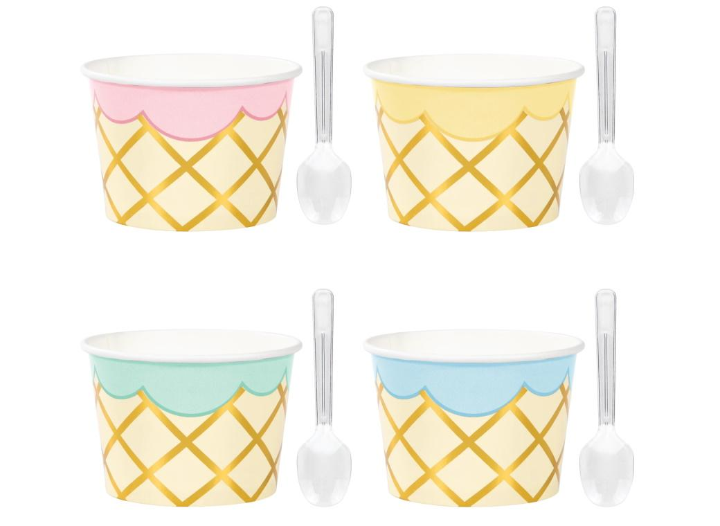 Ice Cream Party Treat Cups 8pk