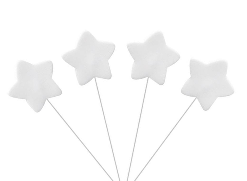 Icing Star on Wire - White