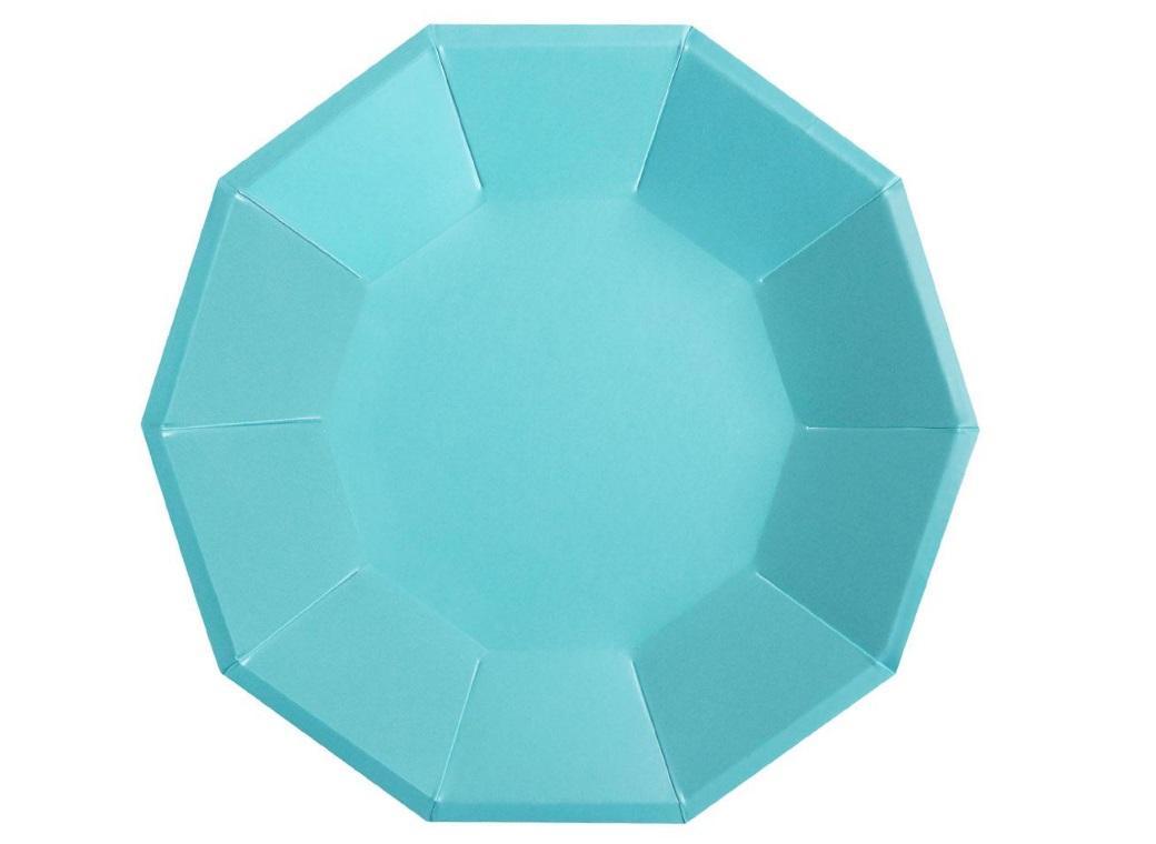Blue Foil Large Plates 10pk
