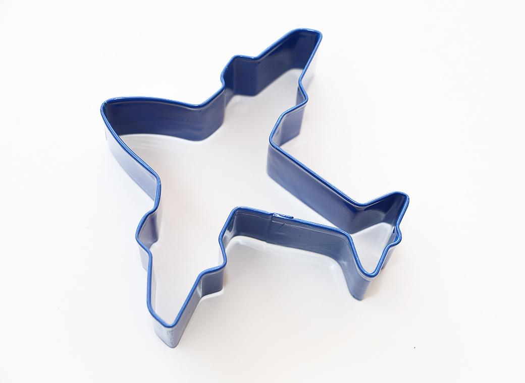 Blue Plane Cookie Cutter