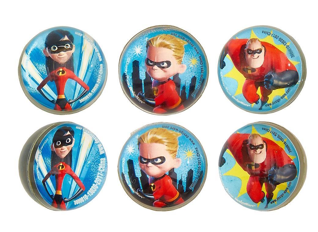 Incredibles 2 Bounce Balls 6pk