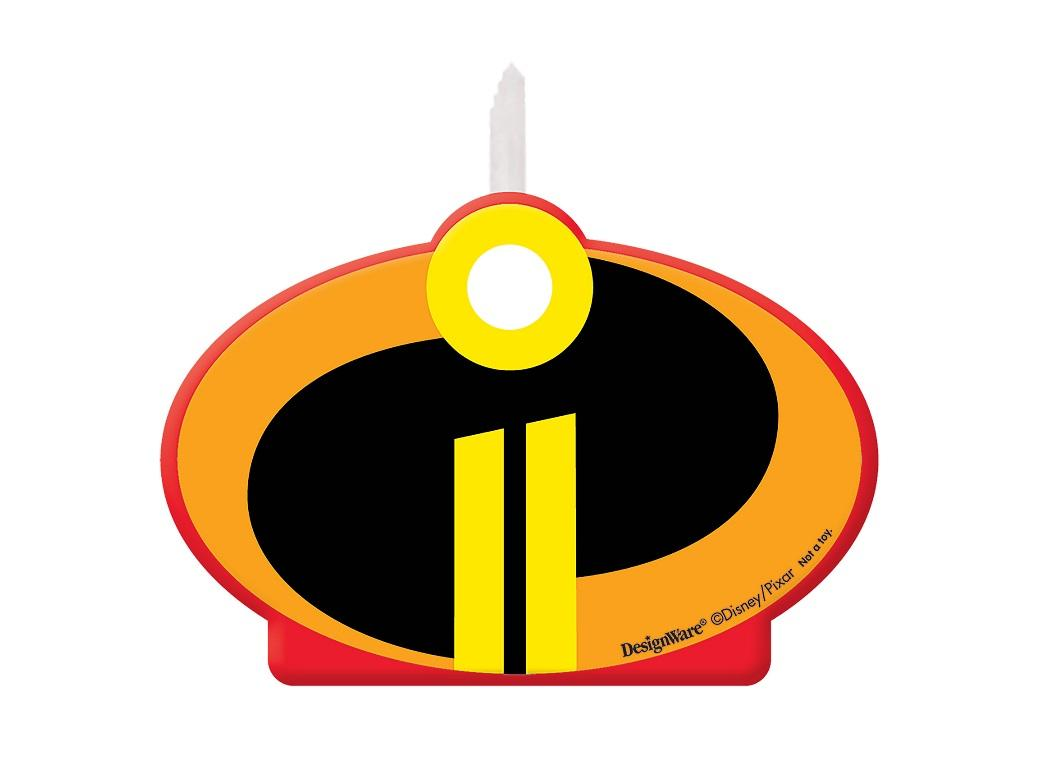 Incredibles 2 Birthday Candle