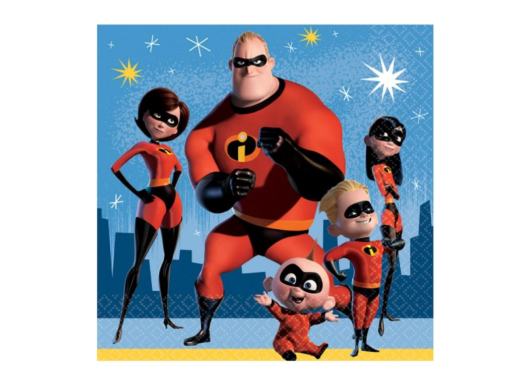 Incredibles 2 Lunch Napkins 16pk