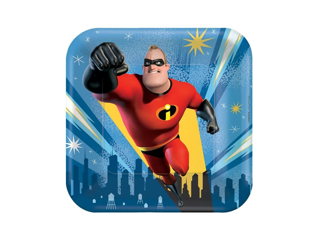 Incredibles 2 Lunch Plates 8pk