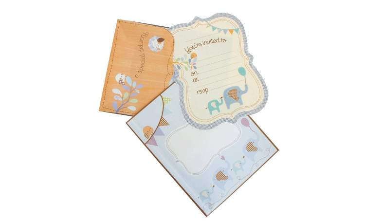 Special Delivery Blue Elephant Invitations – Pack of 25