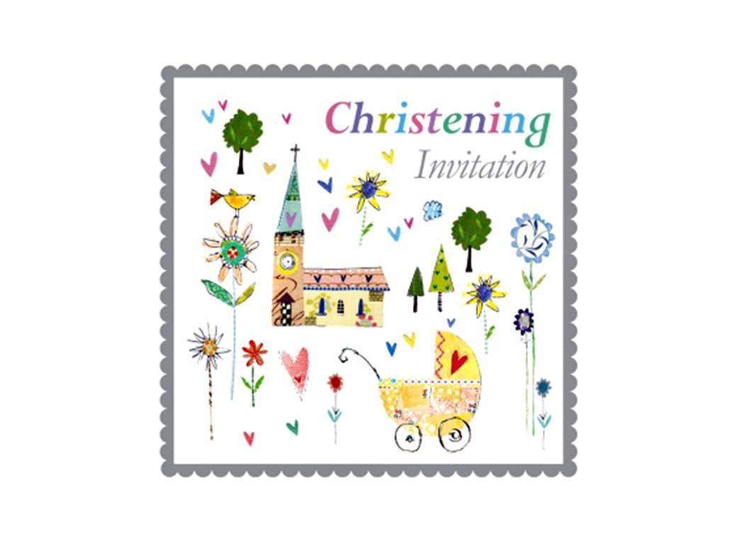 Christening Invitation - 5pk