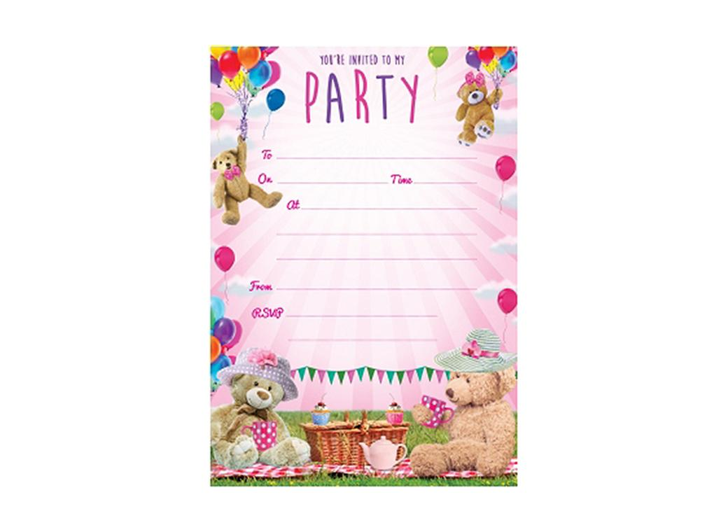 Teddybears Picnic Party Invitations - 20pk