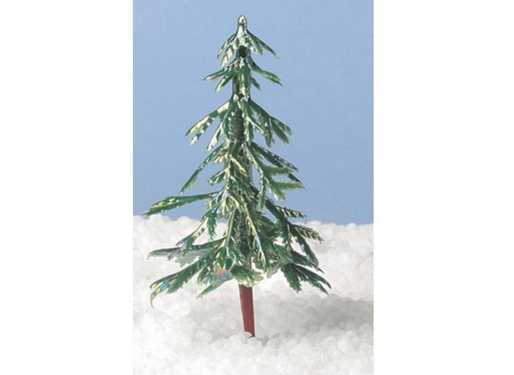 Iridescent Christmas Tree Cake Topper