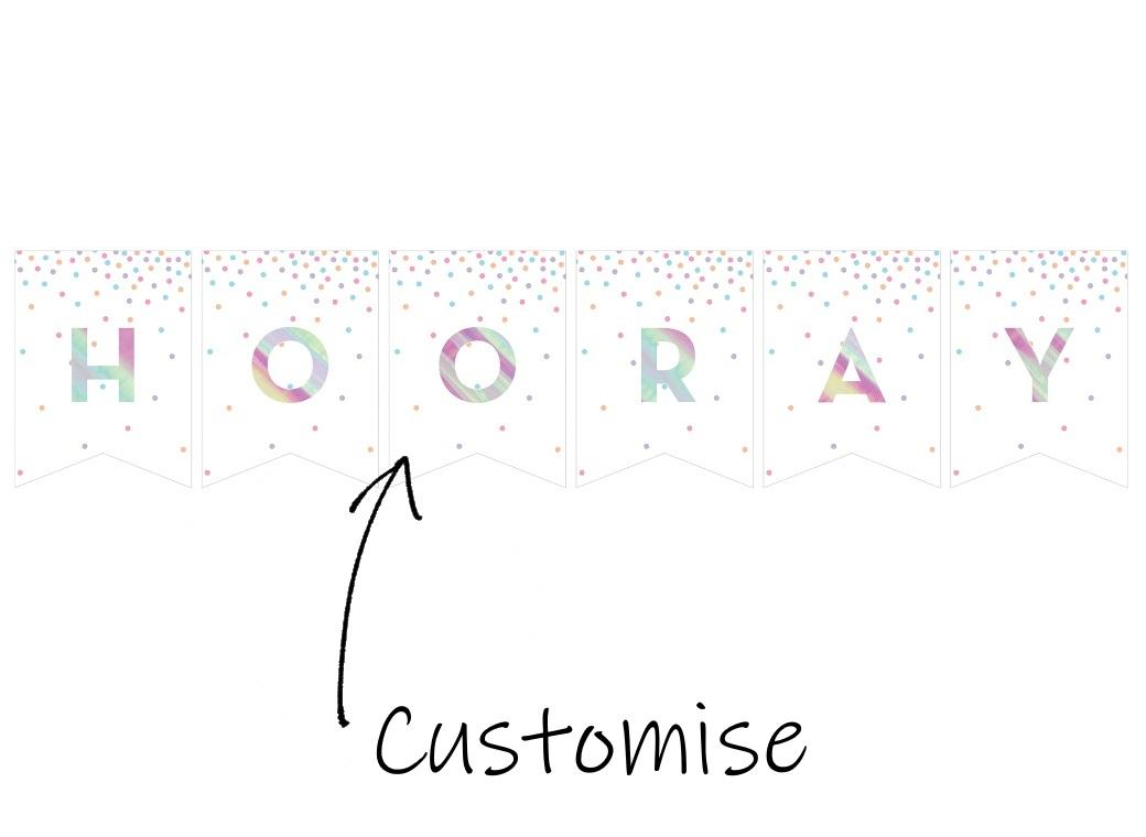 Iridescent Custom Bunting