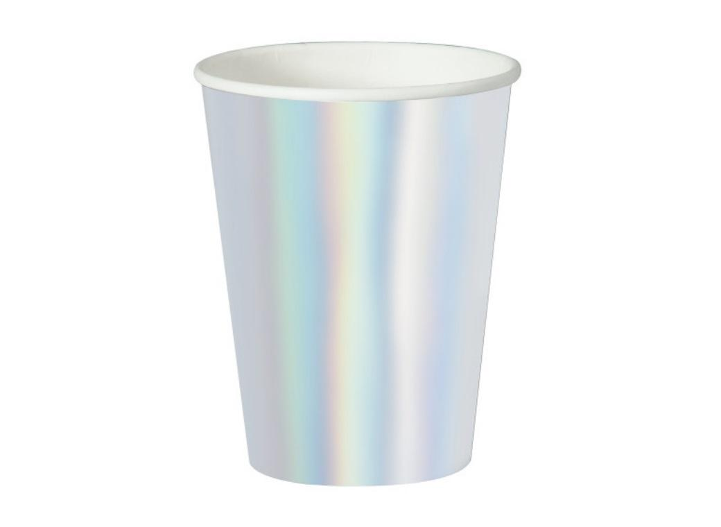 Iridescent Foil Cups 8pk