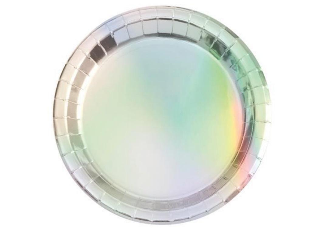 Iridescent Foil Dinner Plates 8pk