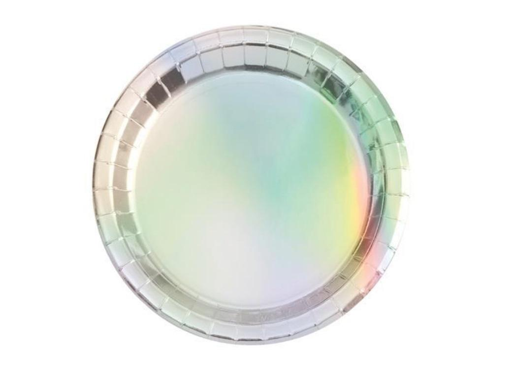 Iridescent Foil Lunch Plates 8pk