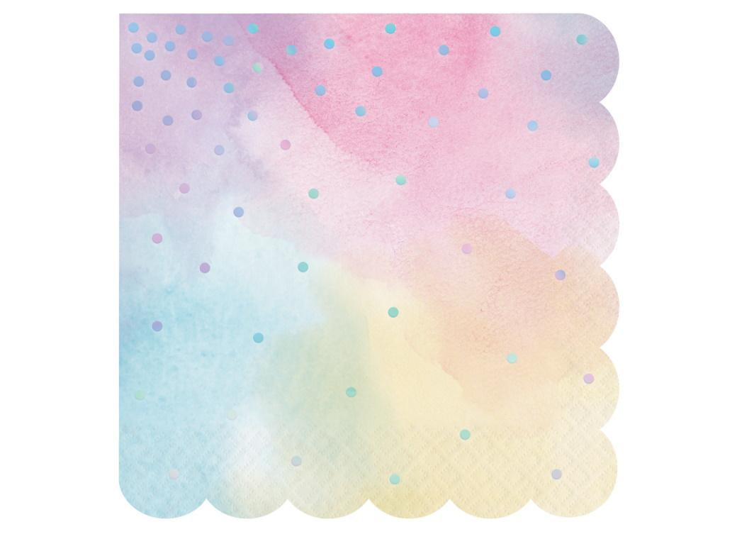 Iridescent Lunch Napkins 16pk