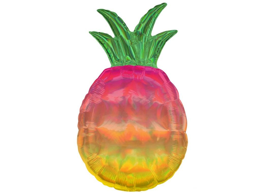 Iridescent Pineapple SuperShape Foil Balloon