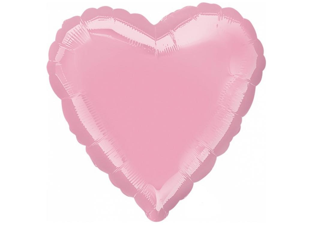 Heart Shaped Foil Balloon - Iridescent Pink