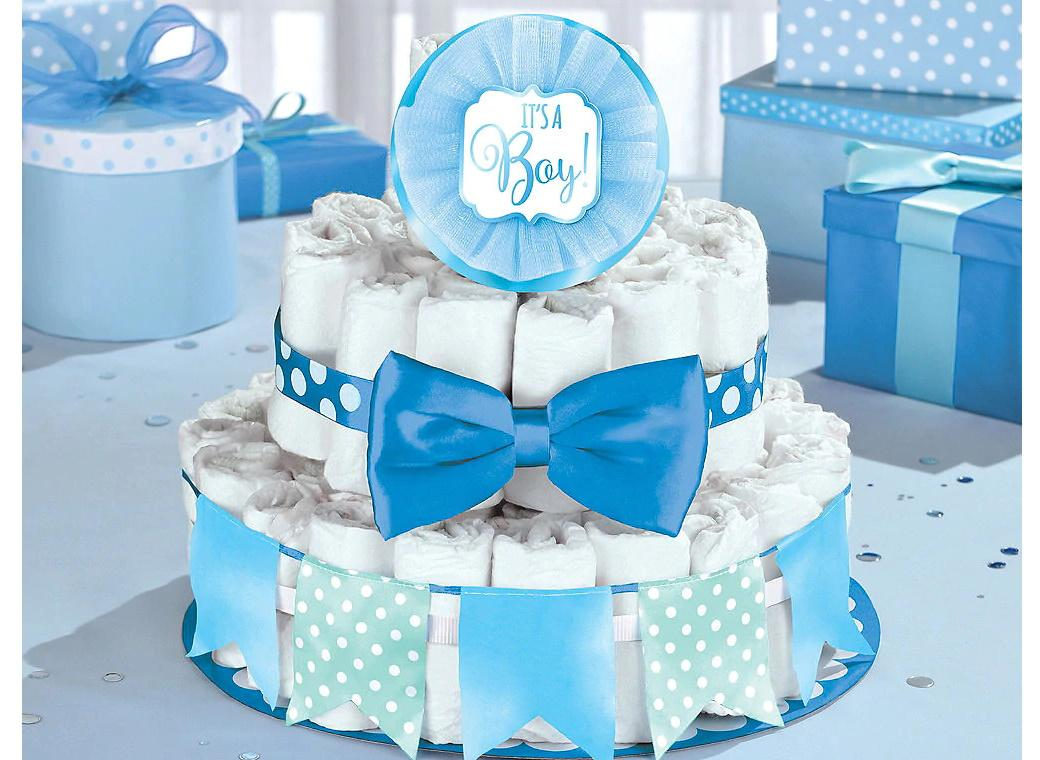 Baby Shower Nappy Cake Kit - Blue