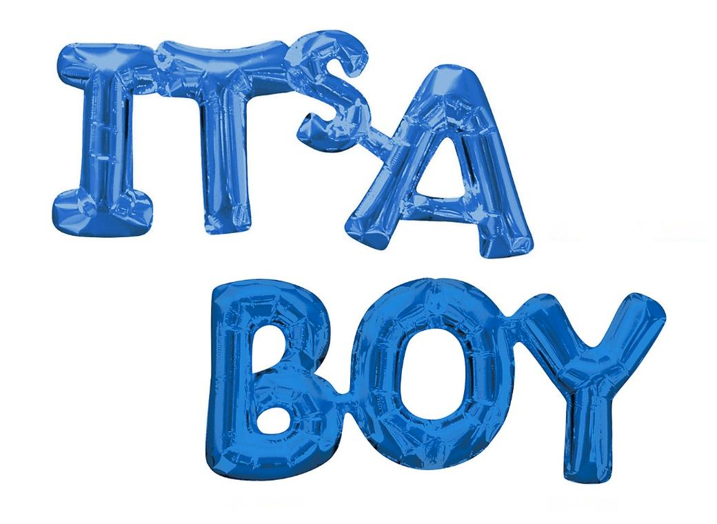 It's A Boy Shape Foil Balloon