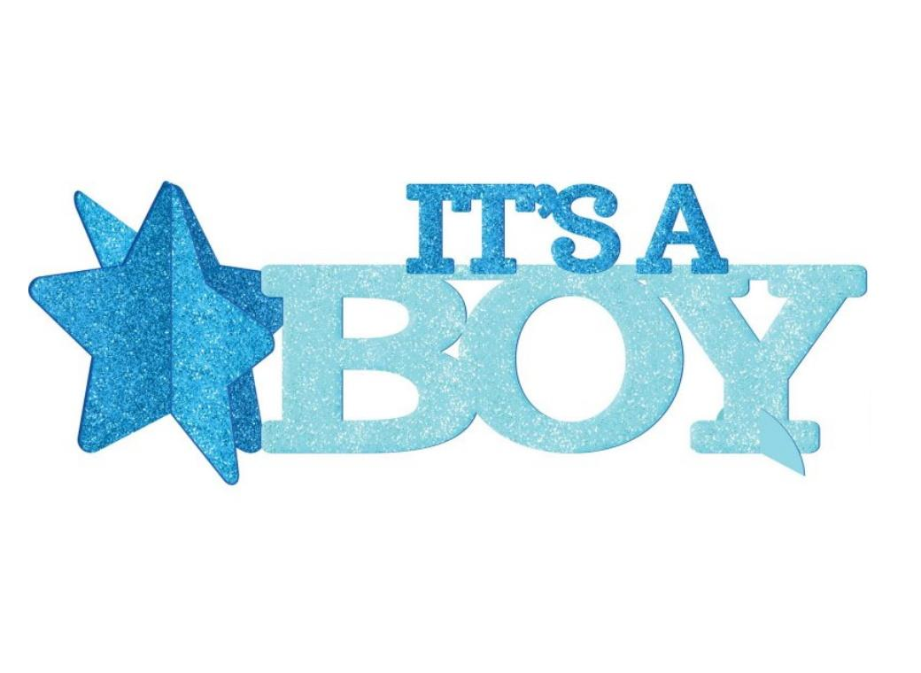 It's A Boy Glitter Table Centrepiece