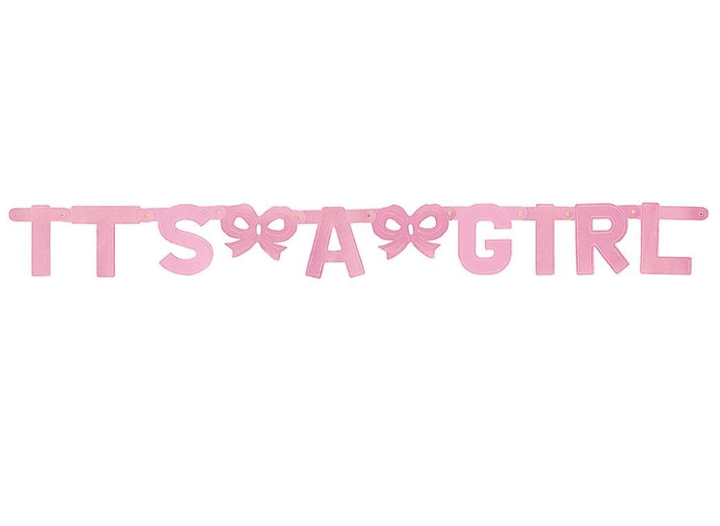 It's A Girl Foil Letter Banner