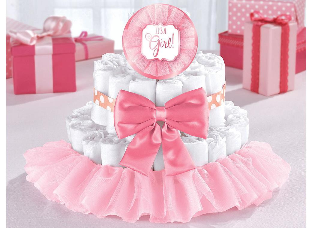 Baby Shower Nappy Cake Kit - Pink
