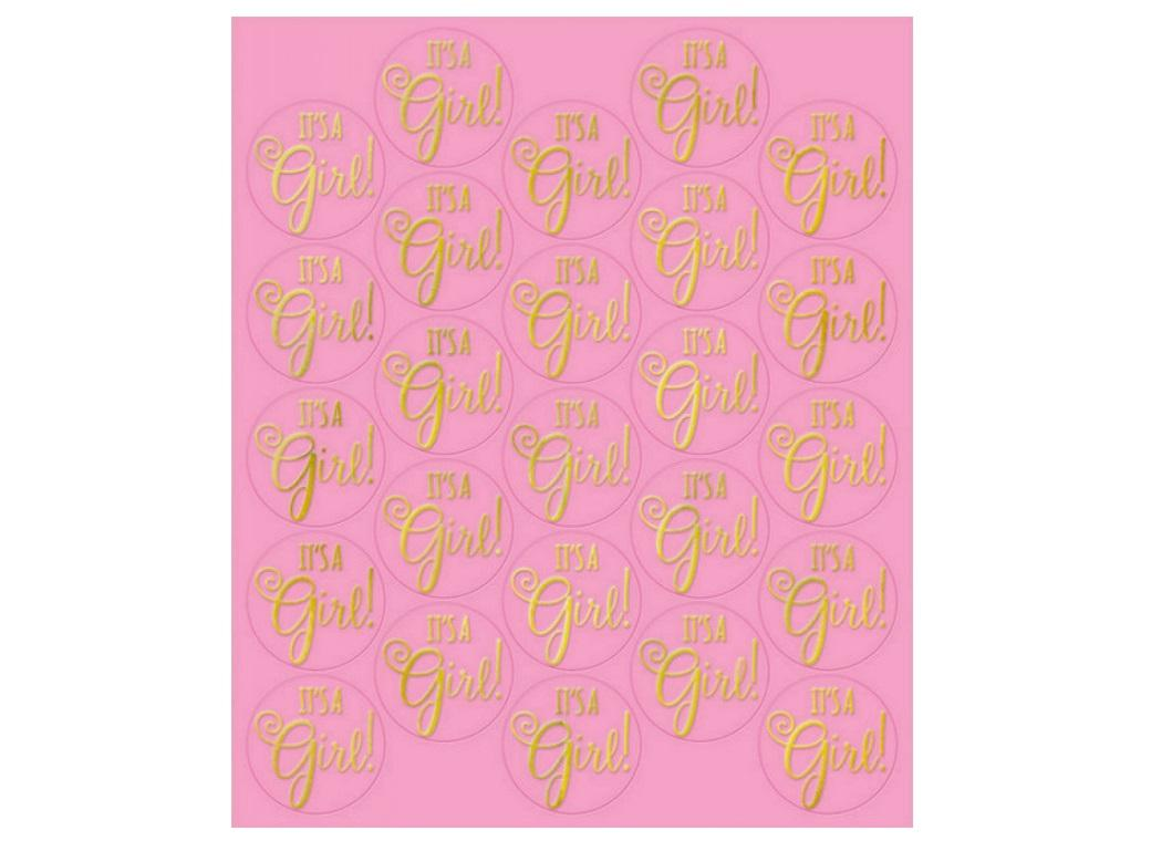 It's A Girl Sticker Seals 25pk