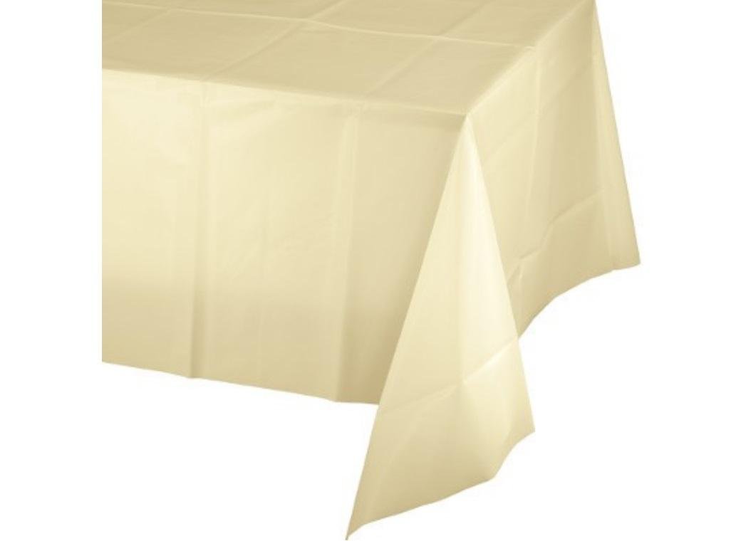Ivory Plastic Table Cloth
