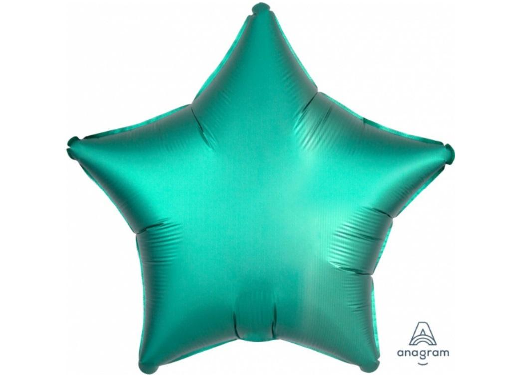 Star Shaped Foil Balloon - Satin Luxe Jade