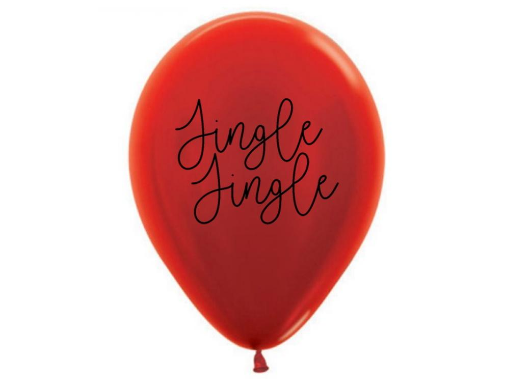 Jingle Jingle Metallic Red Balloons 5pk