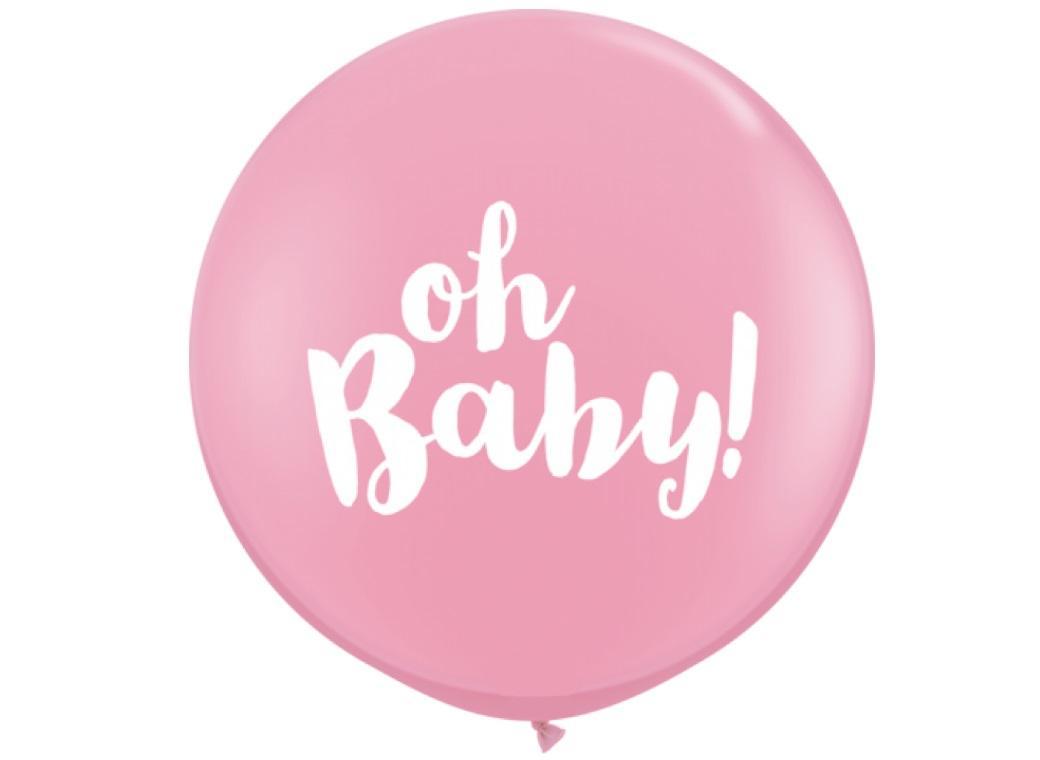 Jumbo Balloon - Oh Baby Pink