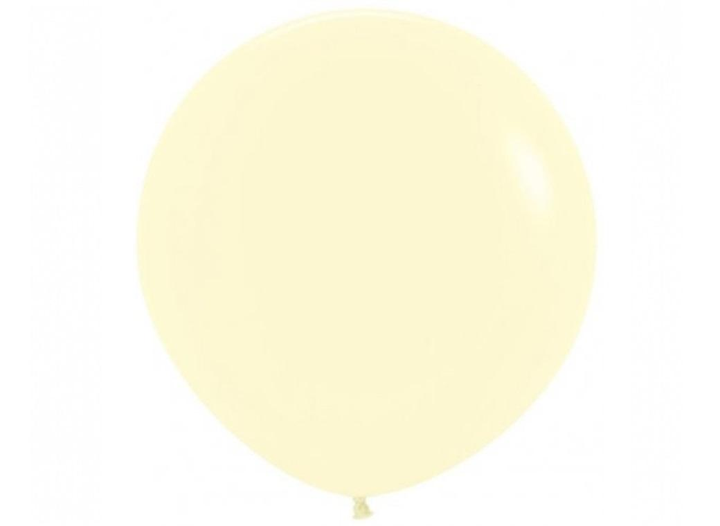 Jumbo Balloon - Pastel Matte Yellow