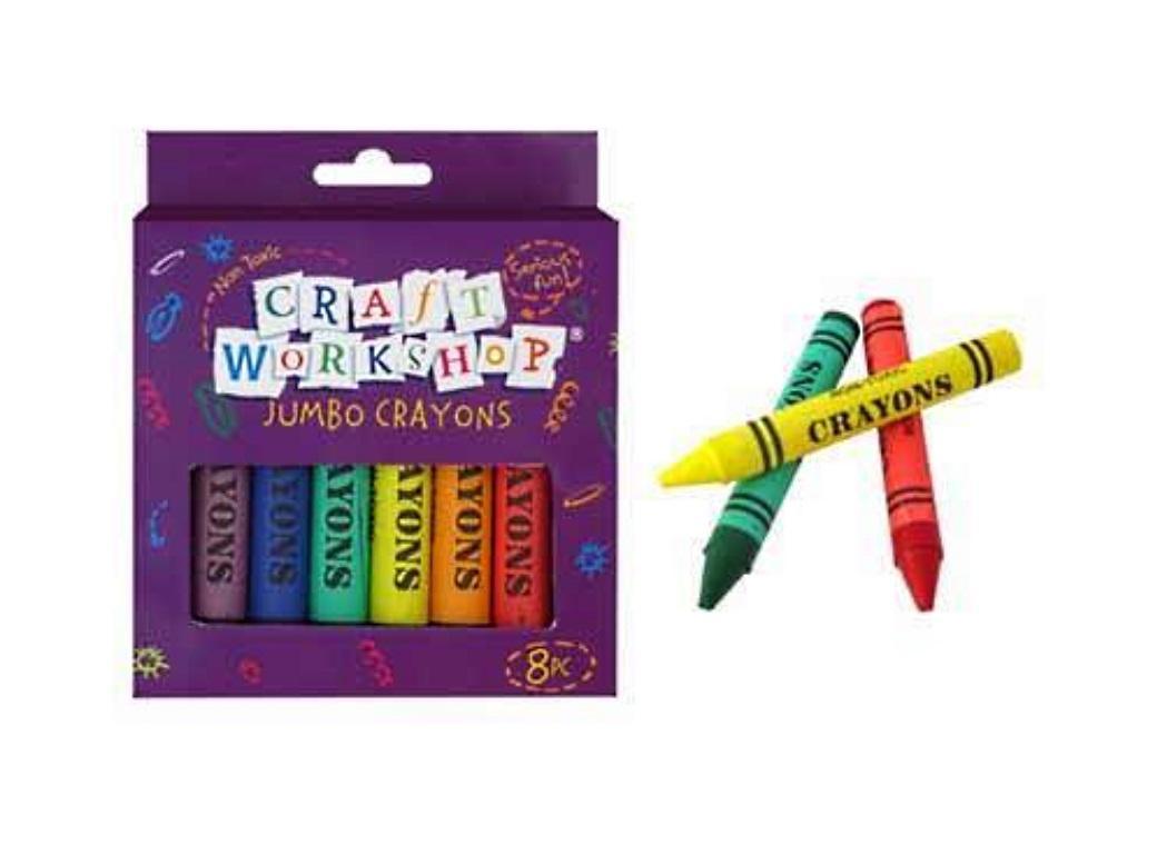 Jumbo Crayons - 8pce