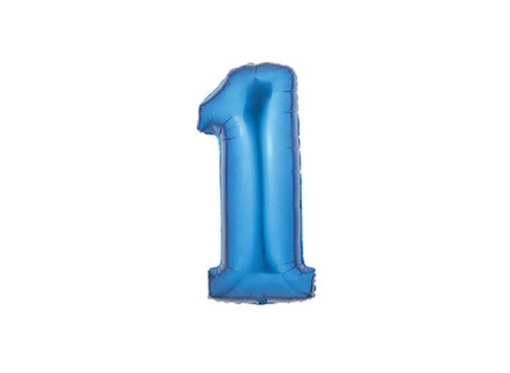 86cm Blue Number Balloon - 1