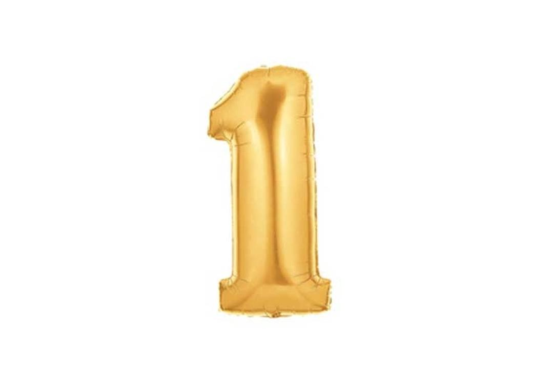 86cm Gold Number Balloon - 1