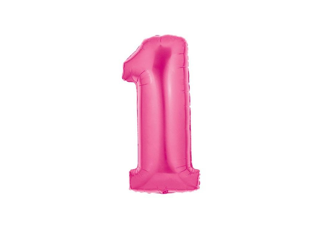 86cm Pink Number Balloon - 1