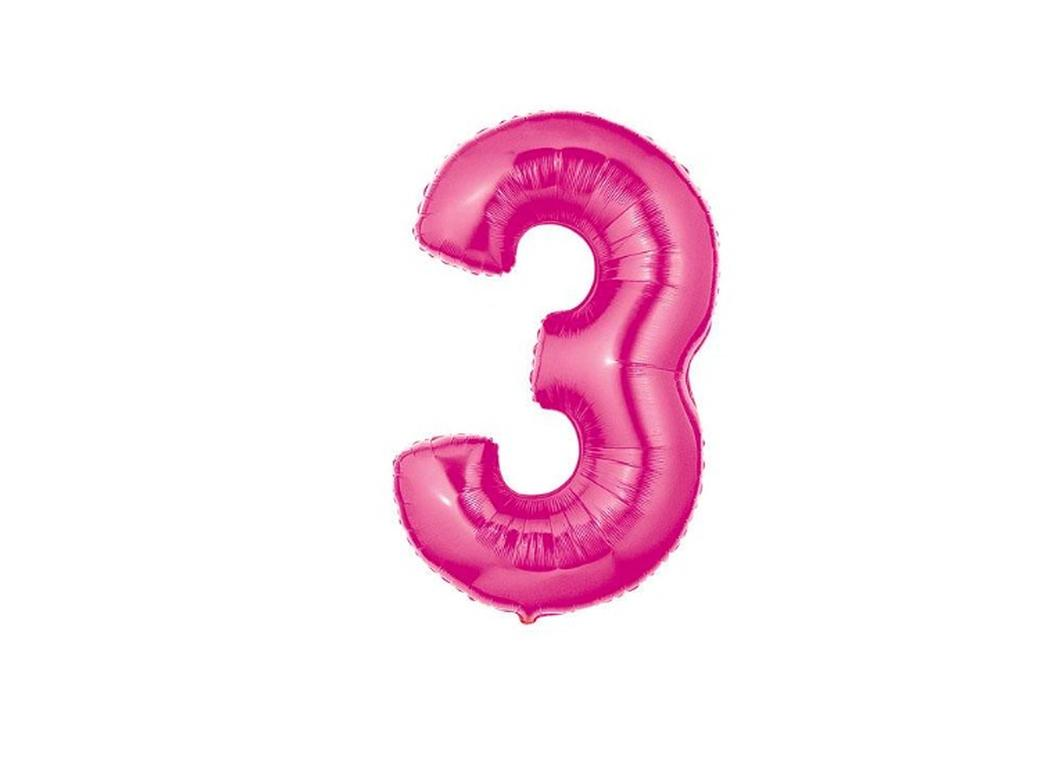86cm Pink Number Balloon - 3