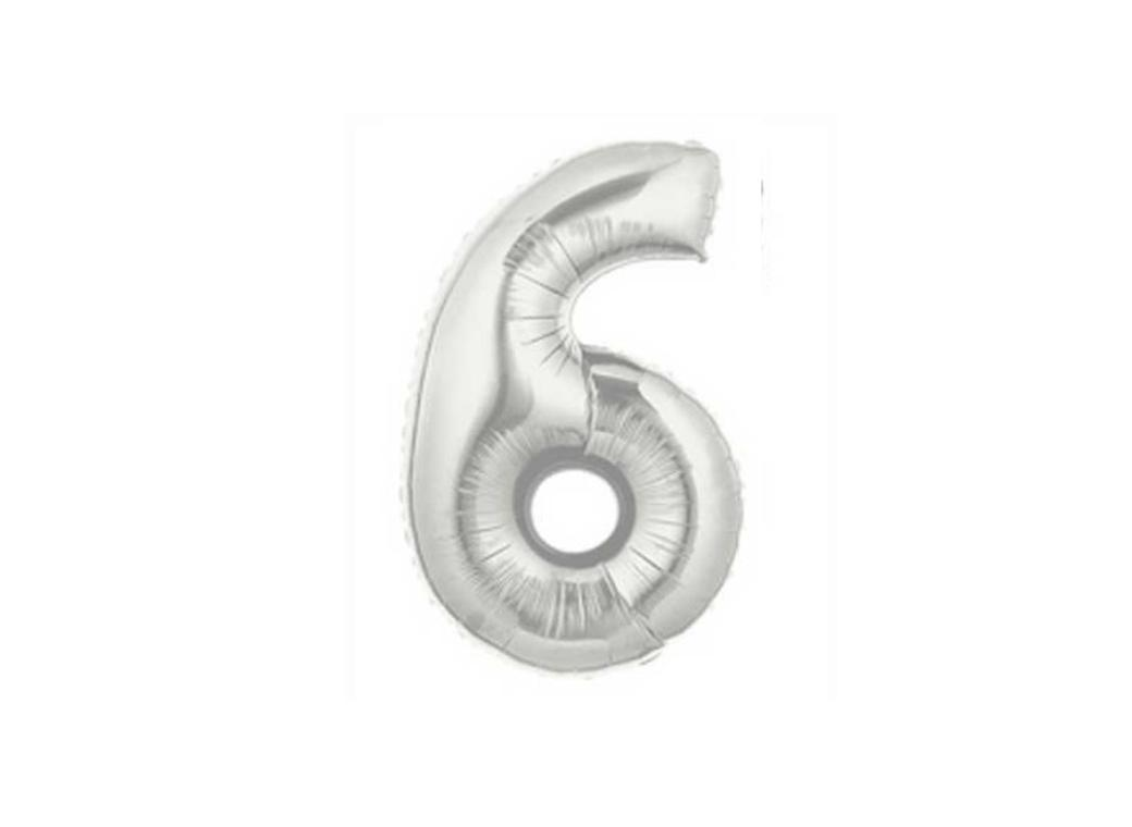 86cm Silver Number Balloon - 6