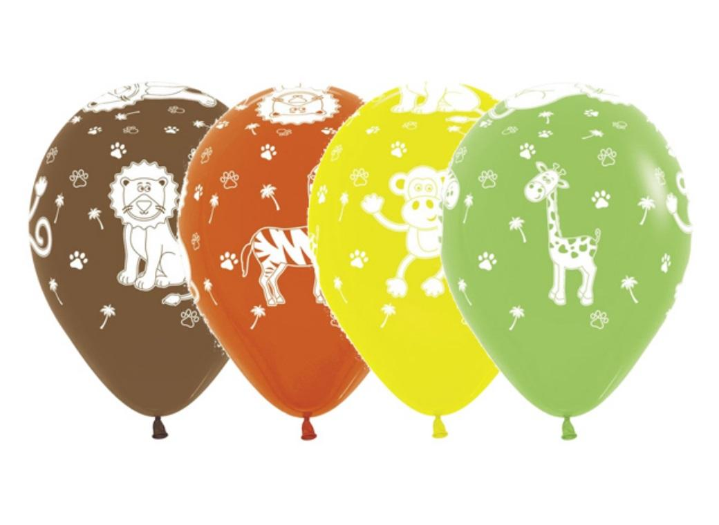 Jungle Animals Balloons 12pk