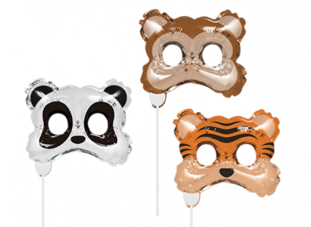 Animal Masks Balloon Photo Props 3pk