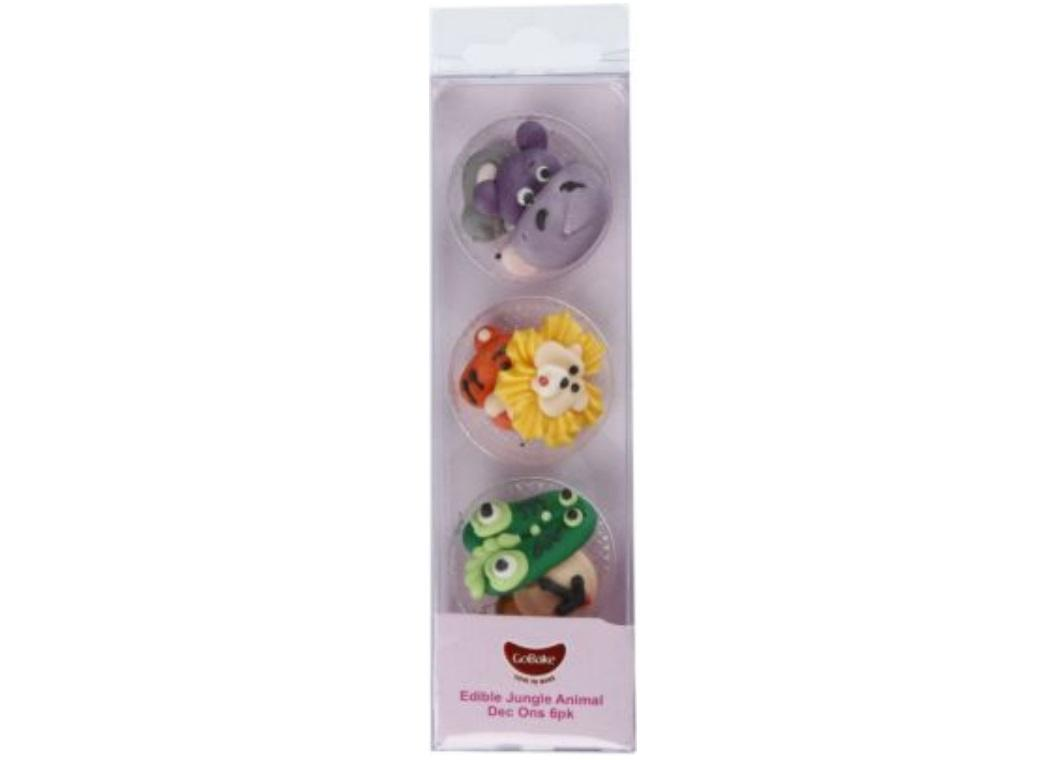 GoBake Dec Ons Novelty Jungle Animals - 6pk