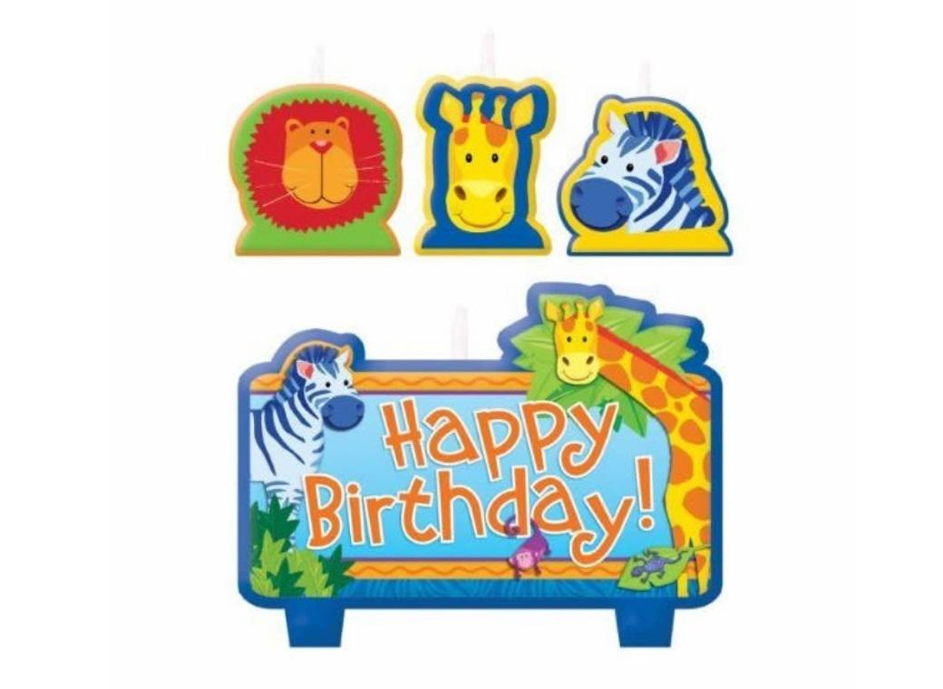 Jungle Animals Candle Set