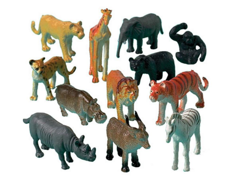 Jungle Animals Favours 12pk