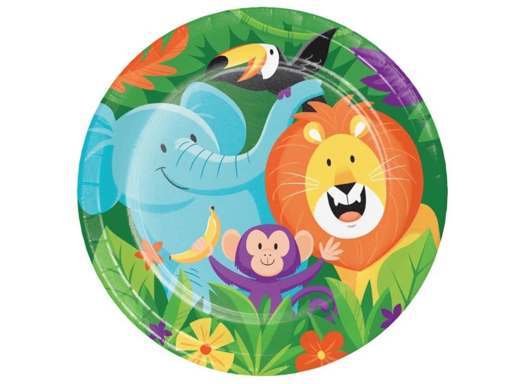 Jungle Safari Dinner Plates 8pk